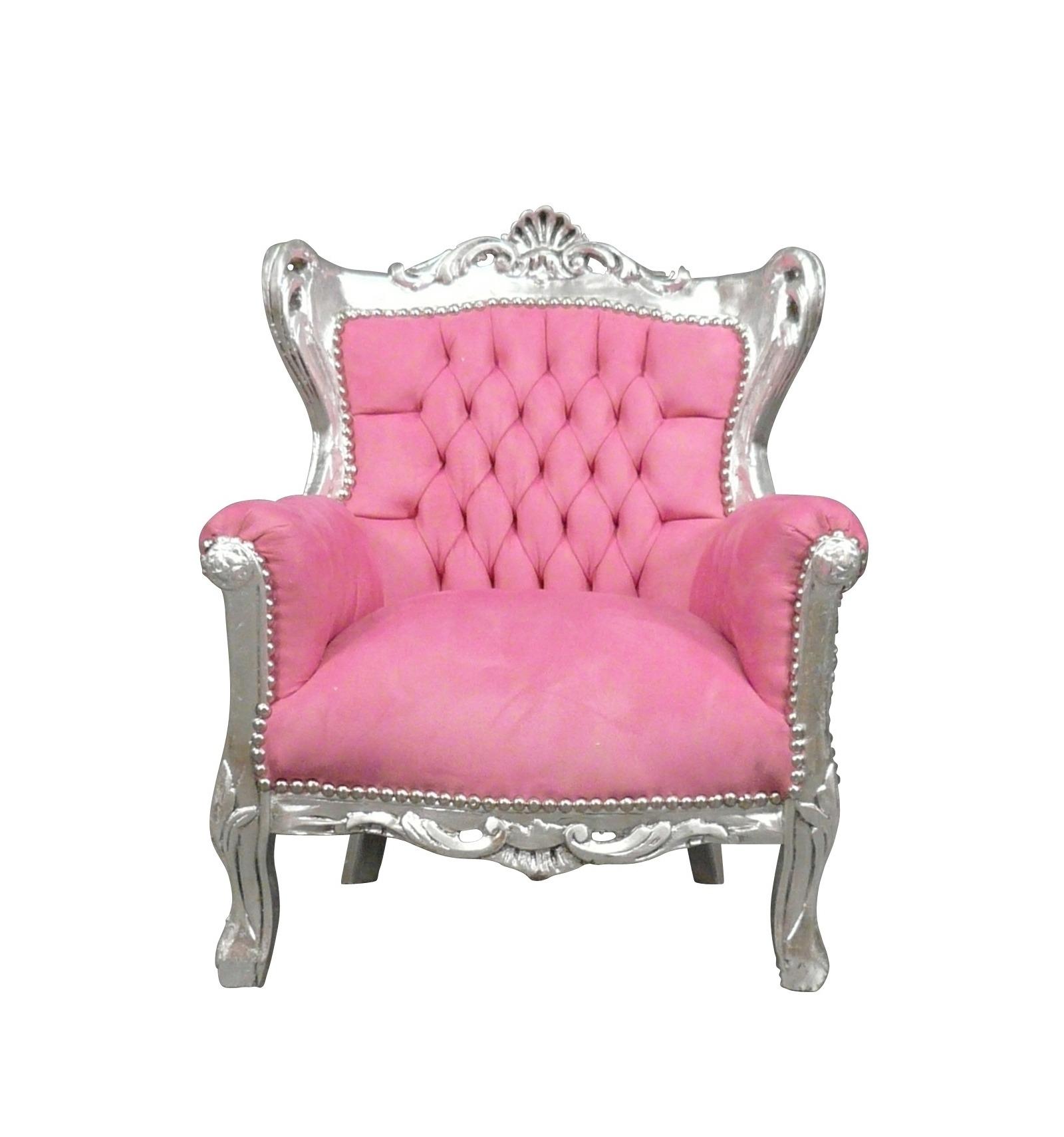 Zilveren Zitzak Stoel.Fauteuil Barok Roze En Zilver Stoelen En Art Deco Meubels