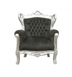 Černé a stříbrné barokní židle dítě