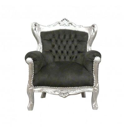 Dětské černé barokní křeslo - nábytek v barokním stylu -