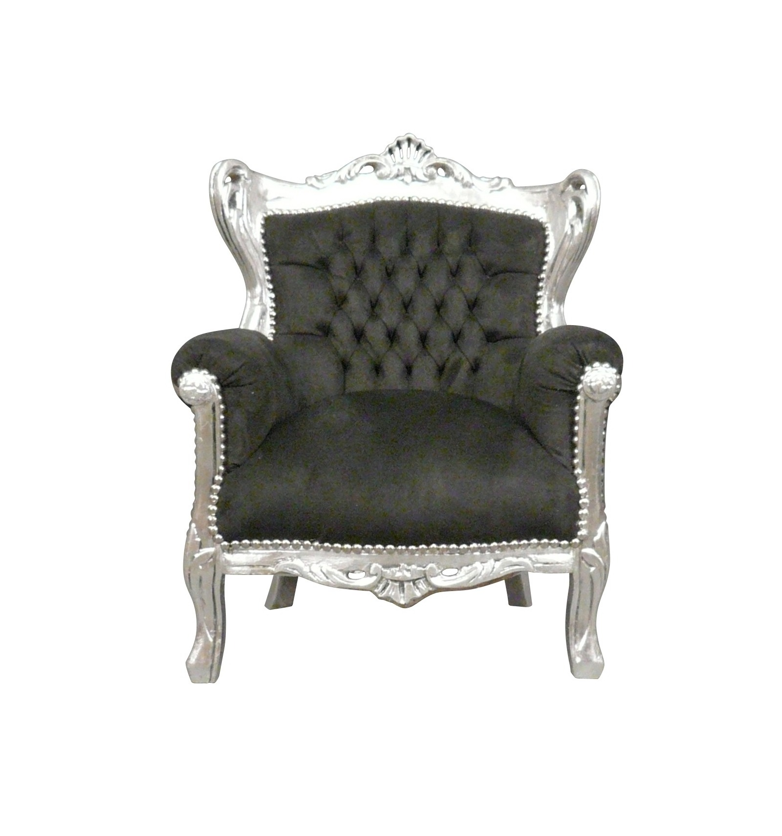 Kind schwarz Barock Sessel Art Deco Möbel