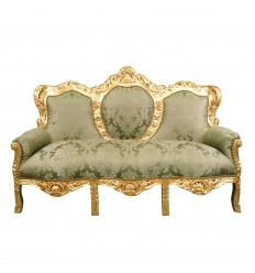 Baroque green sofa