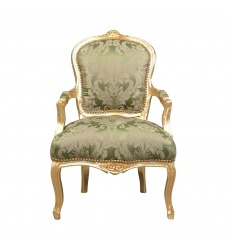 Armchair Louis XV Green