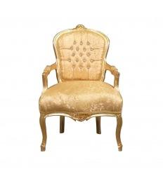 Křeslo louis XV zlato