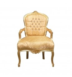 Louis XV Stuhl mi strass golden