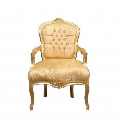 Stol louis XV guld - Louis XV fåtölj -