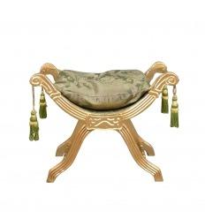Green baroque bench