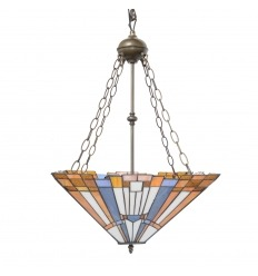 Inverted Tiffany Ceiling Light art deco New York