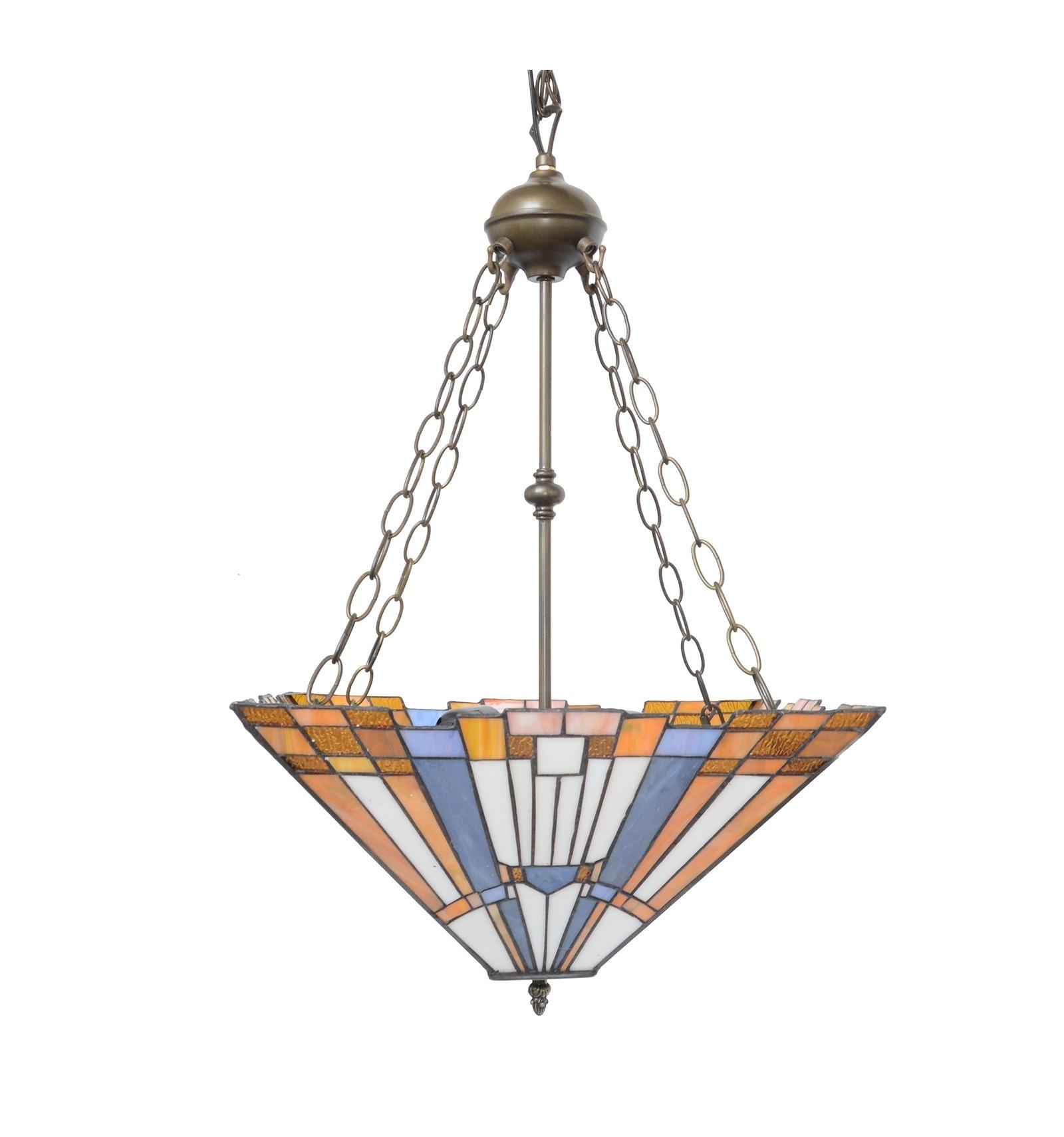 Inverted Tiffany Ceiling Light Art Deco New York Art Deco Lighting