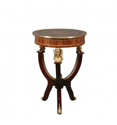 Empire Pedestal Table - Art Deco and Style Furniture -