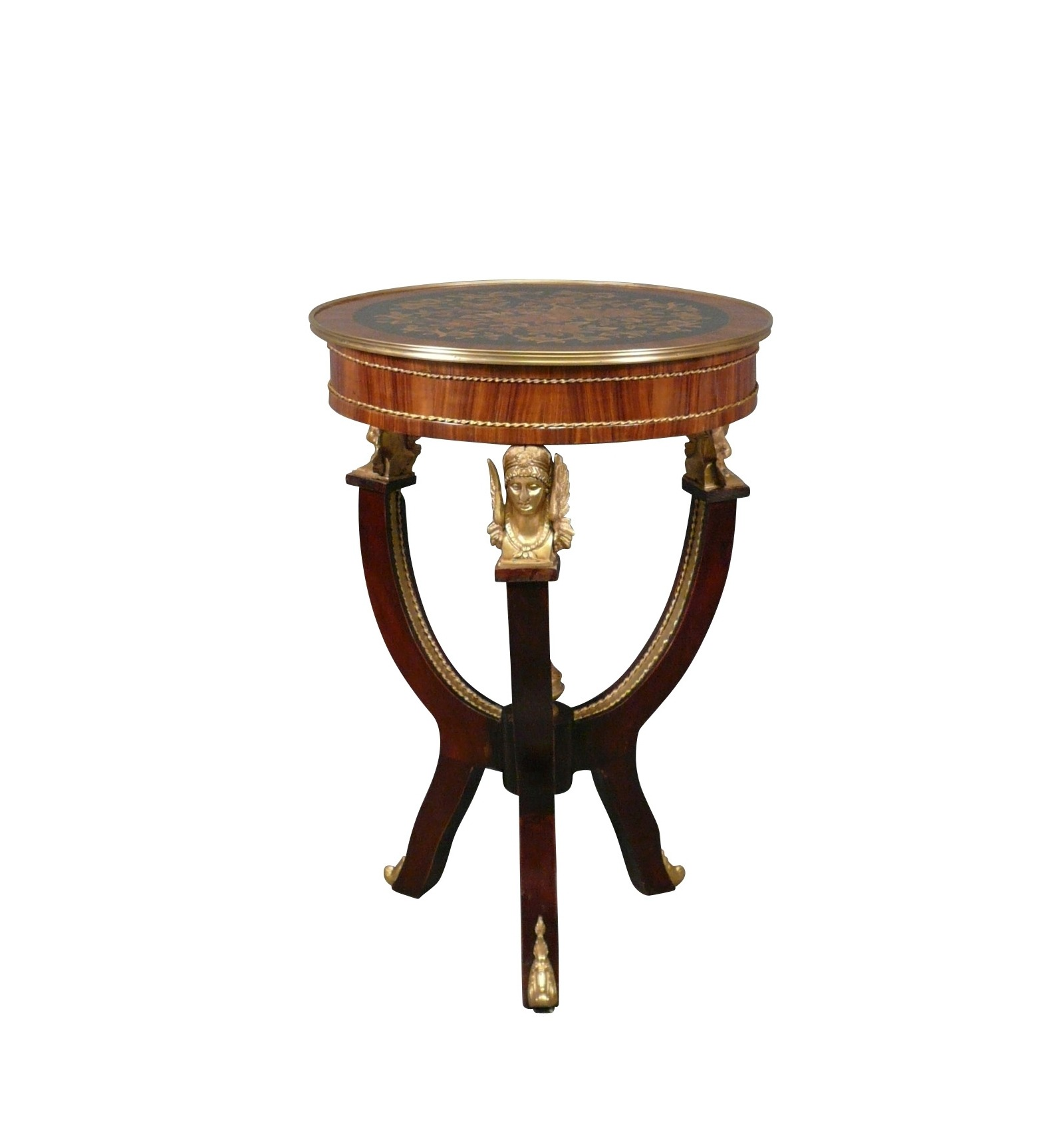 Empire Pedestal Table Art Deco And Style Furniture
