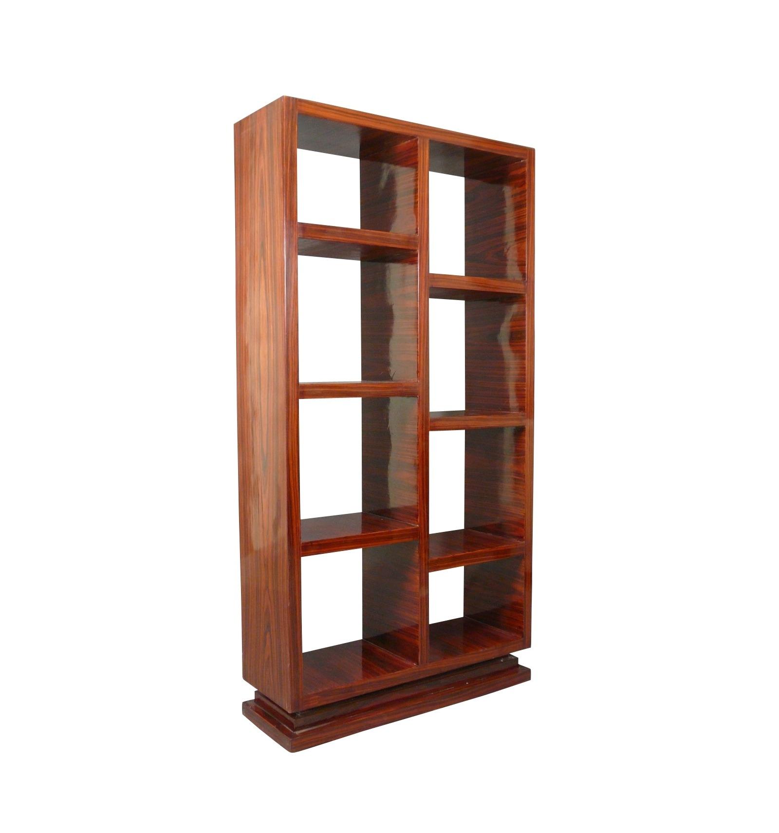 grande tag re art d co en palissandre meuble. Black Bedroom Furniture Sets. Home Design Ideas
