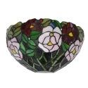 Aplique Tiffany con estilo floral - Lamparas Tiffany