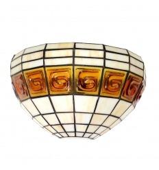Lámpara de pared Tiffany de arte y decoración