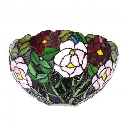 Lámpara de pared Tiffany con estilo floral.