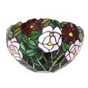 Tiffany Wandleuchte mit Blumenmuster