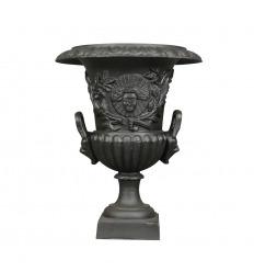 Vase Médicis en fonte de fer - H: 60 cm