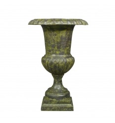 Medici vase in green cast iron - H: 96 cm