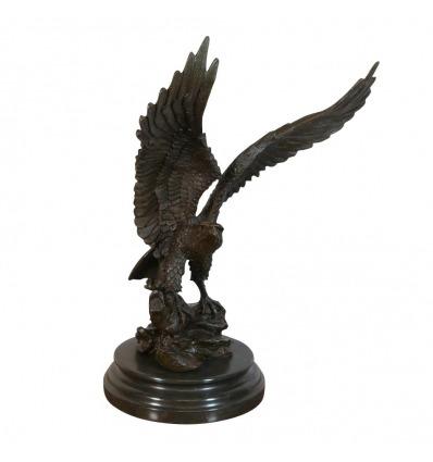 Sculpture en bronze - Le combat des éléphants