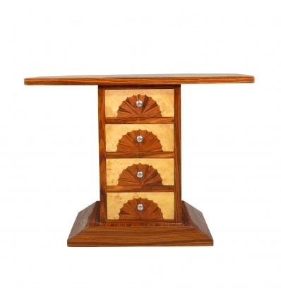4-drawer art deco console