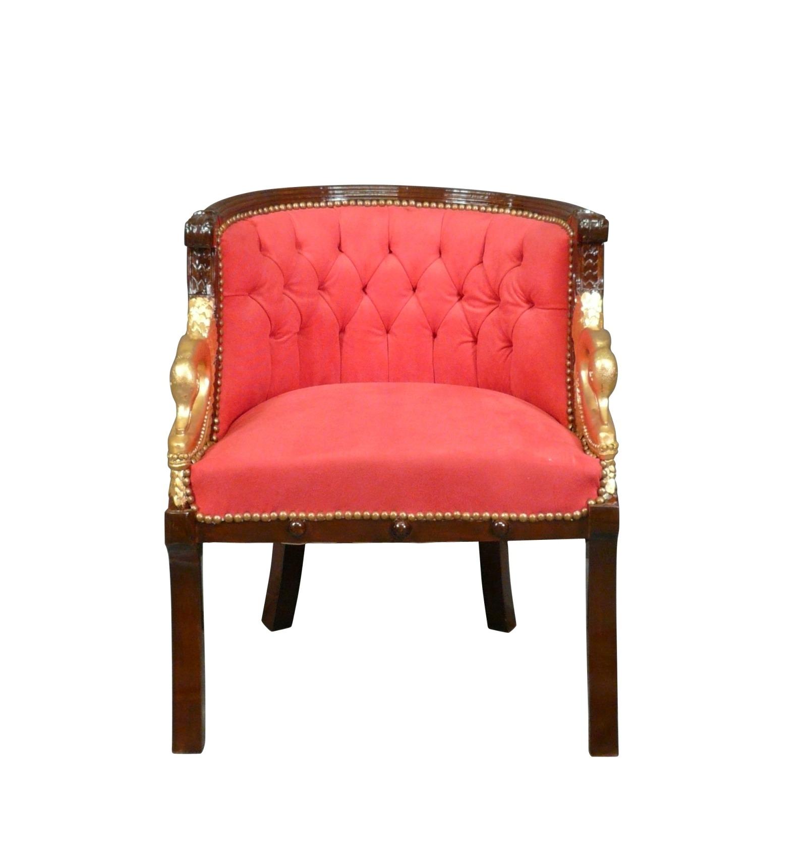 fauteuil napolon iii style empire en acajou - Fauteuil Napoleon 3