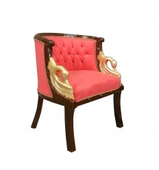 Armchair Napoleon III Empire style red