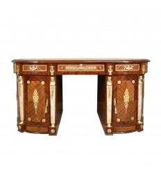Empire oval rosewood desk