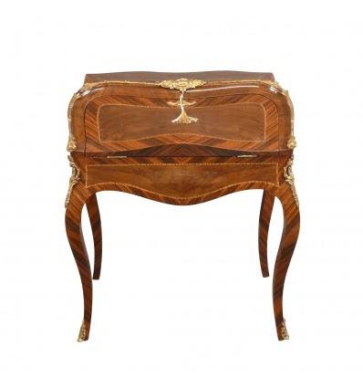 Office av sluttningen Louis XV, sekreterare, åsna och stil möbler
