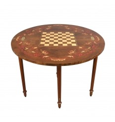 Table of chess games half-moon Louis XVI