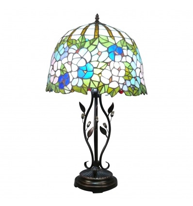 Lampe Tiffany type Wistéria - Reproduction de la lampe Tiffany originale -
