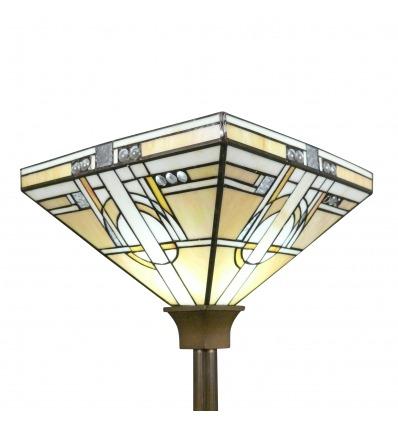 Lampada da terra Tiffany art deco Torchiere - Illuminazione Tiffany - Chicago Serie -
