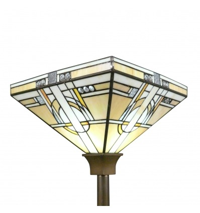 Vloerlamp Tiffany art deco Torchiere - Armaturen Tiffany - Chicago-Serie -