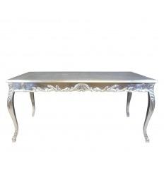 Tavolo barocco argento 200 cm lungo