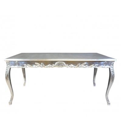 Silberner Barocktisch 200 cm lang