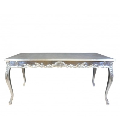 Silver Baroque Dining Room Table - Style Furniture -
