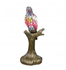 Lampada Tiffany da pappagallo