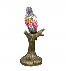 Tiffany lamp parrot
