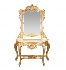 Console baroque dorée
