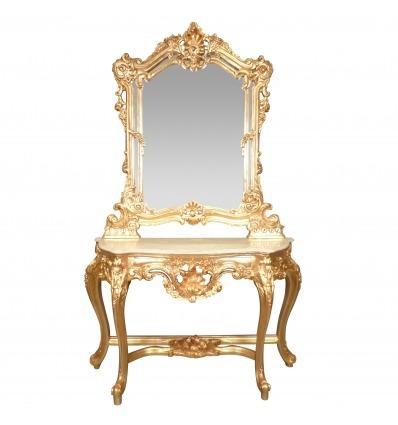 Console Golden baroque - rococo furniture -