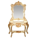 Goldene Barock - Rokoko Möbel Konsole -