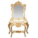 Gouden barok - rococo meubilair console -