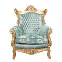 Leunstoel barokke Rome - Koninklijke barok stoel - stoel barok -
