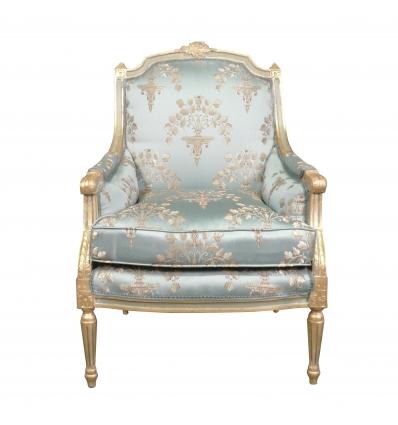 Bergère Louis XVI bleue