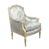 Bergère Louis XVI bleue - Louis XVI Sessel -