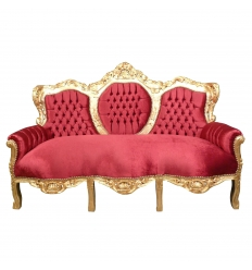 Red baroque sofa Madrid