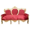 Rot Barock sofa