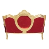 red baroque sofa