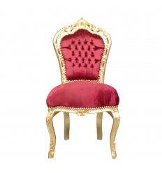 Baroque chair in red velvet