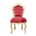 Barokk vörös Bársony szék olcsó