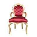 Sillón barroco rojo y dorado Madrid - Sillones barrocos -