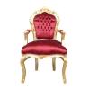Poltrona barocco rosso e oro - Poltrone barocco